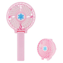 Foldable Mini USB Fan Summer Outdoor Handheld Portable Rechargeable 3-Gear Adjustable Rotary Vane Cooling Fans Air Cooler