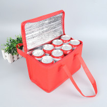 Folding Fresh Keeping Lunch Cooler Bag For Steak Insulation Thermal Bag Insulation Ice Pack Food Drink Delivery Bag