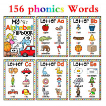 26 Letters Alphabet English Phonics Pocket Cards Baby Montessori Learning English Word Card FlashCards Educational Toys For kids