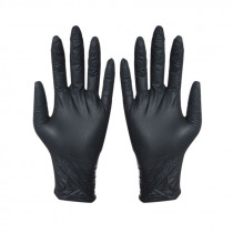 100Pcs Disposable Black Gloves Household Cleaning Washing Gloves Nitrile Laboratory Nail Art Medical Anti-Static Gloves