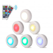 RGB 16 Colors Under Cabinet Light  Dimmable Touch Sensor LED Night Lamps Battery Power Remote Control Suitable for Kitchen Stair