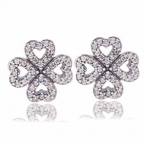 dodocharms 2019 Hot Fashion 925 Sterling Silver Petals of Love Stud Earrings For Women Lady Authentic Original Jewelry Gift