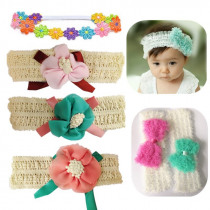 Fashion Toddler Headband Children's Cute Hair Accessories Baby Band Lace Rosette Flowers Girl Elastic bands Headwear