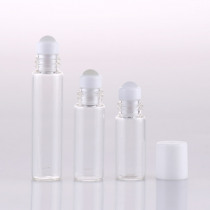 30pcs/lot 2ml 3ml 5ml Roll On Roller Bottle for Essential Oils Refillable Perfume Bottle Deodorant Containers with white lid