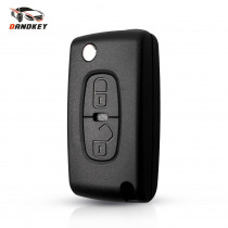 Dandkey For Peugeot 4007 ET 4008 For Citroen C-Crosser C4 Aircross Key 2 Buttons Flip Remote Key Shell Fob Case MIT-11R blade