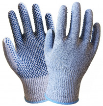 Anti Cut Work Gloves HPPE With Nitrile Finger Dipped  Nitrile Dots Cut Resistance Work Gloves