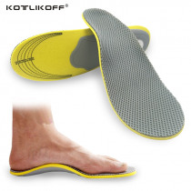 Men Orthopedic Insoles 3D Flatfoot Flat Foot Orthotic Arch Support Insoles High Arch Shoe Pad Insole Accessories For Women Shoes