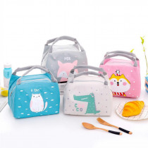 Animals Printing Portable Insulated Oxford Lunch Bags Thermal Food Picnic Lunch Bags For Women Kids Functional Cooler Lunch Box