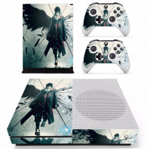 Anime Naruto Sasuke Skin Sticker Decal For Microsoft Xbox One S Console and 2 Controllers For Xbox One S Skins Stickers Vinyl