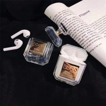 For Coco airpods Perfume bottle Case CC shock proof Transparent INS glitter crystal storage case for apple airpods keyring gift