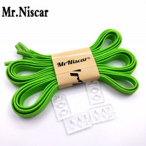 Mr.Niscar 1 Pair New Arrival 8 Color Locking Shoe Laces Strings Rope Elastic Shoelaces Children Running Walking Shoelaces Green