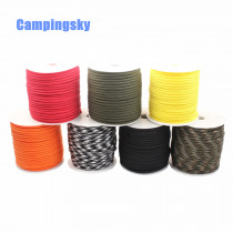 CAMPINGSKY Paracord 550 4mm rope 100FT Paracord survival Parachute Cord Lanyard Rope Climbing Camping survival equipment kit
