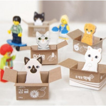 Cute cat DIY Sticky Notes self-adhesive Planner Sticker decoration notepads convenient Memo Pads for School Stationery