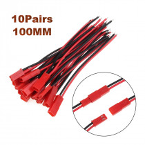 2/10 Pairs 100mm 10cm Male Female 2-Pin Connector JST Plug Cable For RC BEC Battery Helicopter DIY FPV Drone Quadcopter