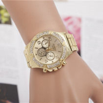 Luxury Brand Silver Gold Watches Women Rhinestone Dress Watches For Women Stainless Steel Quartz Wristwatches reloj mujer AC023