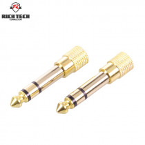 "2pcs 6.35mm Jack  1/4"" Male To 3.5mm 1/8"" Female Audio Converter 6.3 male to 3.5 female stereo terminal plug headphone connector"