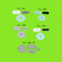 1sets  for GBA SP Conductive Rubber Silicone Pads Buttons For GameBoy Color GBC Console For GB