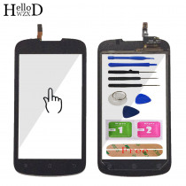 High Front Touch Glass For Huawei Ascend G300 U8818 U8815 Touch Screen Glass Panel Digitizer Lens Sensor Capacitive + Adhesive
