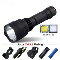 Portable Lighting powerful led flashlight waterproof Torch tactical hunting light cree xml t6 l2 rechargeable batteries 18650