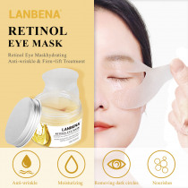 Lanbena Retinol Eye Mask Eye Patch  Anti-puffiness Reduces Dark Circles Ageless Lifting Firming Eye Serum Cream Skin Care 50pcs