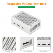 Raspberry Pi 3 Aluminum Case Silver Case Metal for RPI 3 Model B Compatible with Raspberry Pi 2 Model B B+