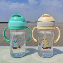 Shock-Resistant Baby Sippy Cups Kids Drinking Bottles 400ml Infant Children Learn Drinking Dual Handles Straw Juice Baby Feeding