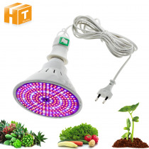 LED Grow Light E27 Screw Interface Lamp Base With 4M 8M Line Independent Switch Indoor Greenhouse Plants Grow Flowerl Lamp