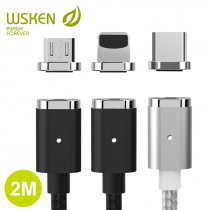 WSKEN Mini 2 Magnetic Charging Micro USB Cable USB Type C Magnetic Cable for iPhone QC 2.0 Fast Charger USB C Cable Wire USB-C