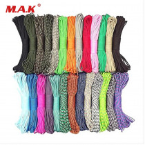 Pure Color 550 Paracord 8 m 25/50/100 Feet Parachute Cord Lanyard III 7 Strand Core for Outdoor Camping Climbing