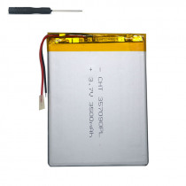 7 inch tablet universal battery pack 3.7v 3500mAh polymer lithium Battery for Digma Plane 7700T 4G/Plane 7012M 3G +screwdriver