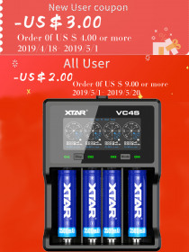 XTAR NEW VC4S Colorful VA LCD Screen 3A battery charger use for IMR Lithium Li-ion Rechargeable Battery 18650/26650/10440/16340