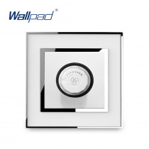Fan Dimmer Switch Speed Regulator Knob Switches New Arrival Wallpad Luxury Acrylic Panel With Silver Border