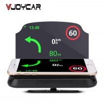 Car Hud Universal Phone Holder Head Up Display Car Speedometer Glass Speed Projector Holder Wireless Bracelet Phone Navigation