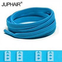 JUP 1-50 Pair Blue High Quality New Design Children Without Tie Rubber Elastic Lace Sneakers Shoelaces  Sports Shoes Lacing Blue