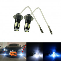 2pcs White 30-SMD 4014 H3 LED Replacement Bulbs For Car Fog Lights, Daytime Running Lights, DRL Lamps ice blue yellow