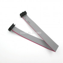 5PCS/LOT FC-10P 10 Pins 2.54mm Pitch 20cm JTAG AVR Download Cable Wire Connector Gray Flat Ribbon Data Cable