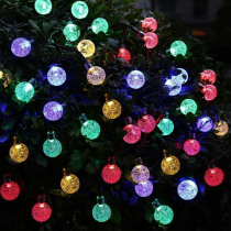 20leds 30leds 50leds Solar led String Lights Outdoor Waterproof Crystal Ball Garden Christmas Party Festival Decorative Lighting