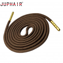 JUPHAIR Thick Round Waxed Shoelaces Custom Noble Gold Metal Tip Shoelace Fit Boots Sneakers Dress Leather Shoes Shoe Laces