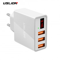 Display 3 USB Charger, USLION Fast Charging Wall Charger for iPhone Samsung Xiaomi 3.4A Max Universal Mobile Phone USB Charger