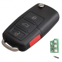 315Mhz 3 Buttons Car Key Fob Replacement Remote Transmitter Clicker Alarm W/ Key HLO1J0959753DC HLO1J0959753AM for Volkswagen VW