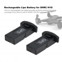 3PCS 7.4V 850mAh Rechargeable Lipo Battery for SHRC H1G RC Quadcopter Spare Parts RC Drone Lithium-ion Battery Black