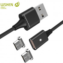 WSKEN Lite1 Magnetic Micro USB Cable Fast Charging Data USB Charger Cable For Samsung Galaxy S7 S6 Huawei Xiaomi LG USB Cable