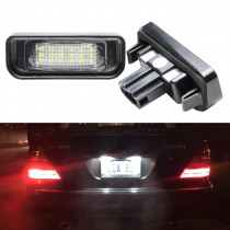 7000K Super White 18SMD Led License Plate Light for Mercedes Benz W220 S Class S320 S350 S500 S55 S600 S65 Car Lighting Sourcing