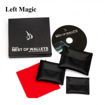 Deluxe Nest Of Wallets(DVD+ Gimmick) - Magic Trick Close Up Magic Street Illusions Stage Magic Props Mentalism Accessories