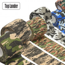 5x450cm Self Adhesive Camo Elastic Tape Wrap Outdoor Survival Military Camouflage Stretch Bandage Waterproof Camo Hunting Tape