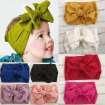2019 Brand New Cute Infant Baby Kids Toddler Girl  Big Bow Headband Stretch Turban Knot Head Wraps Gifts Red Black