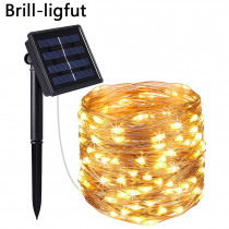 10M 20M Solar Powered led String Lights Copper Wire 8 Modes Outdoor Fairy Light for Christmas Garden Home Holiday Decoration