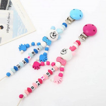 Baby Pacifier Chain Infant Boys Girls Cute Cartoon Mouse BABY Letters Toys Teether Pacifier Chain Clips Nipple Feeding Holder