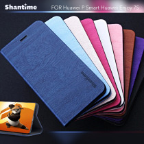 Pu Leather Phone Case For Huawei P Smart Flip Book Case For Huawei Enjoy 7S Business Wallet Case Soft Tpu Silicone Back Cover