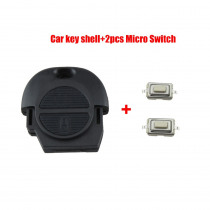 Remote Fob Key Shell for Nissan Micra Almera Primera X-Trail 2 Buttons Car Key Case Cover No Blade+2 Micro Switch